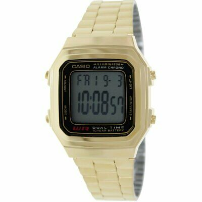 Casio Men's A-178WGA-1A Digital Gold-Tone Stainless Steel Watch - Clear