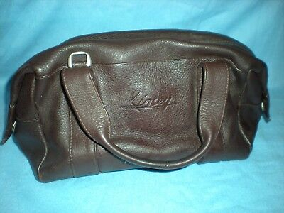 KINSEY Conker Brown Soft Leather Medium Size Grab Bag in Very Good Condition