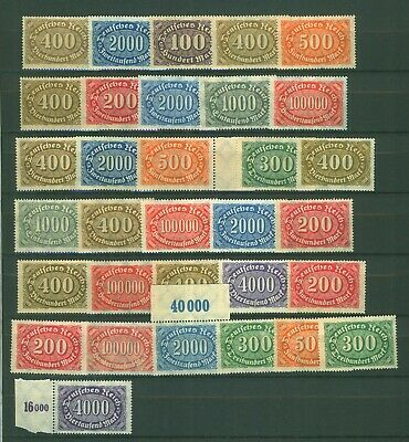 German Reich collection inflation stamps MINT MNH