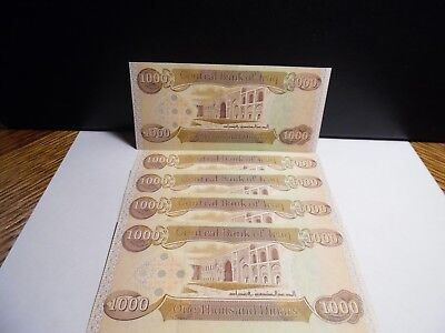 New Iraqi Dinar Banknotes, 5 Pc 1000 Total of 5000 Dinar