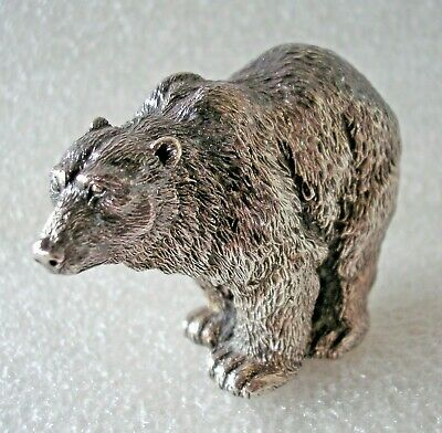 Gorgeous little Sterling Silver Bear figurine by Alessandro Magrino Italy