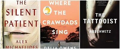PACK : The Tattooist of Auschwitz + The silent patient + Where the crawdads sing
