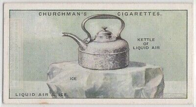 Liquid Air On Ice  Science  Experiment 1920s Trade Ad Card