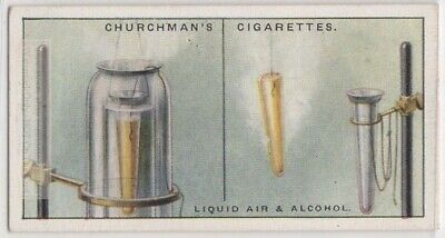 Freeze Alcohol With Liquid Air Science  Experiment 1920s Trade Ad Card