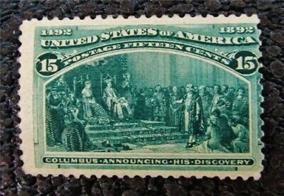 nystamps US Stamp # 238 Mint OG H $225