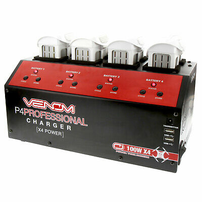 DJI Phantom 4 Venom Pro Charger 4 Channel (100W X4) Rapid Speed Battery Charger