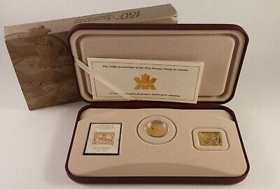 2001 CANADA 3 CENTS 150th ANN OF THE FIRST POSTAGE STAMP COIN AND STAMP SET
