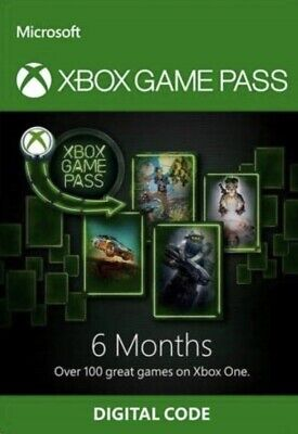 Xbox One Game Pass 6 Month Subscription digital code(half Year) READ DESCRIPTION
