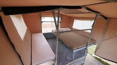 camper trailer - 7x4 galvanized with extedable frame & canvas covers