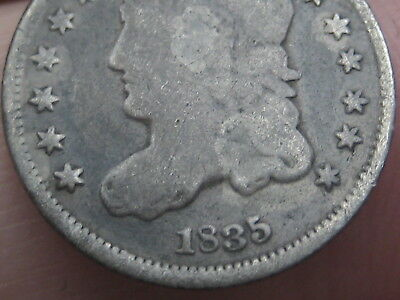1835 Capped Bust Half Dime- Good Details, Small Date, Small 5C