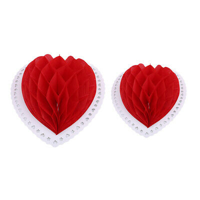 1pcs 3D Love Heart Lantern Valentines Day Wedding Ornaments Hanging Decor L