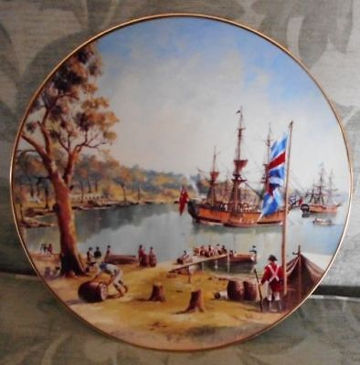 Australian Bicentenary Collector Plate: 'Ships of the First Fleet: Sydney Cove'