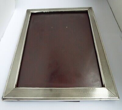 "Beautiful Large 9.5"" English Antique Art Deco 1929 Sterling Silver Photo Frame"