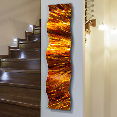 Statements2000 3D Metal Wall Art Amber Gold Abstract Accent Decor by Jon Allen
