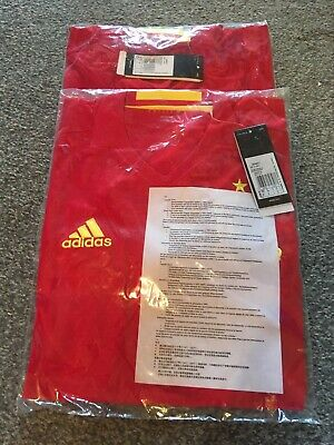 x2 Spain Adidas Home Football Shirt Size Adult Small New Sealed With Tags