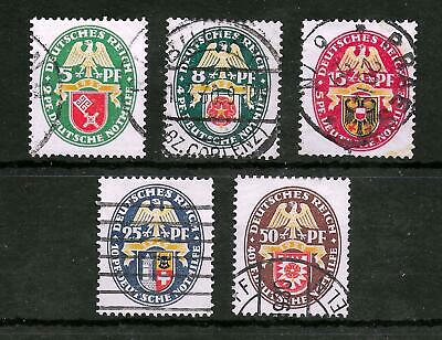 GERMAN REICH 1929 Used Complete Set of 5 Michel #430-434 CV €190