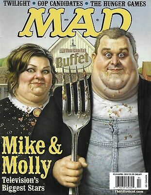 Mad Magazine Mike And Molly Twilight Gop Candidates The Hunger Games Spy 2012