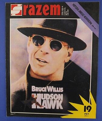 BRUCE WILLIS mag.cover Poland 1991 Jim Morrison The Doors,Skid Row,old cars