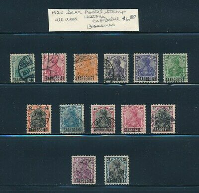 Own Part Of Saar Stamp History 13 Issues Cat $ 6.50 Stamps Shown