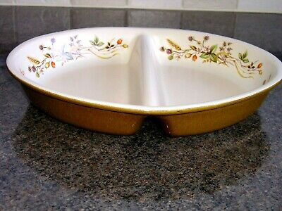 "Marks & Spencer ""harvest"" 2 Section Serving Dish.new"