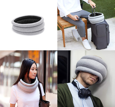 "OSTRICH PILLOW - Light Travel Pillow for Airplanes, Car .... "" Grey """