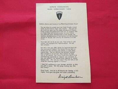 Tract General Eisenhower Us Army Ww2 Gi Airborne D Day Normandie