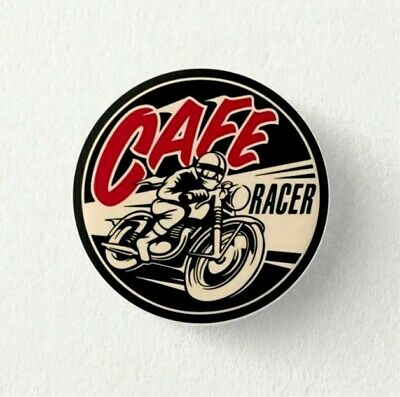 Chapa Pin Badge button CAFE RACER Motorcycle Racing