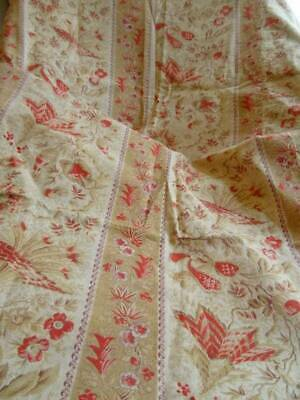 A Charming Antique French Floral Soft Furnishing Fabric (b)