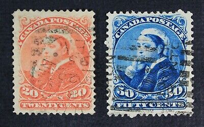 CKStamps: Canada Stamps Collection Scott#46 47 Victoria Used CV$210