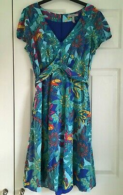 Bravissimo/Pepperberry Ladies Tropical Print Summer Dress, Size 12 Really Curvy