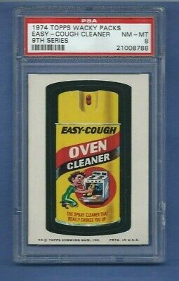 Wacky Packages Series 9 Easy Cough Cleaner Psa 8 Nmmt Tough