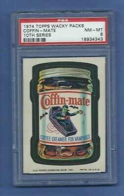 Wacky Packages Series 10 Coffin Mate Coffee Psa 8 Nmmt Low Pop Only 3 Higher