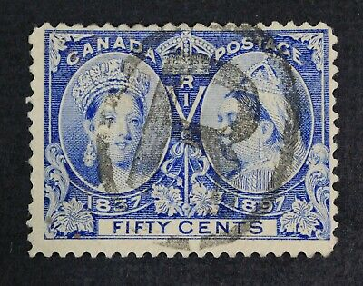 CKStamps: Canada Stamps Collection Scott#60 Jubilee Used Lightly Crease CV$190