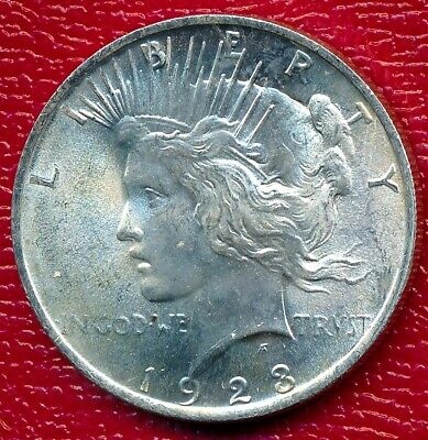 1923 Peace Silver Dollar **choice Brilliant Uncirculated** Free Shipping!!