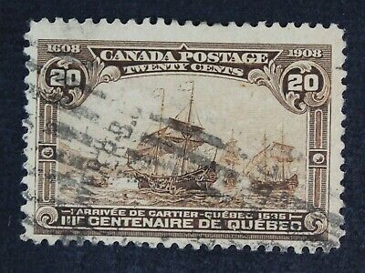 CKStamps: Canada Stamps Collection Scott#103 Used Tiny Thin CV$225