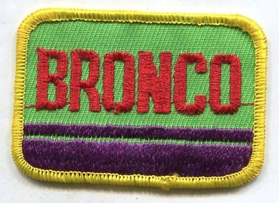 Embroidered patch FORD BRONCO truck 1970'S trucks pickups monster