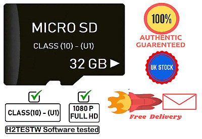 Micro SD Card 32GB Class 10 Memory SDHC UHS1 TF ✅ Full HD Video support ✅ New!!