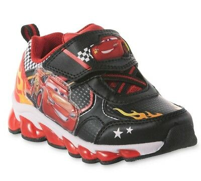 a0633882729 DISNEY CARS LIGHTNING McQUEEN Boys Light-Up Shoes Sneakers Toddler's Size 9  $38