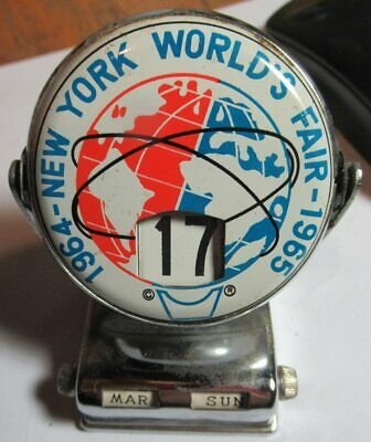 "1964 - 1965 New York Worlds Fair Flip Desk Perpetual Calendar ~ 3"" Tall"