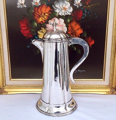 "Large 13"" Antique Victorian Silver Plated Church Communion Flaggon C1850"