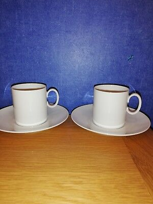 Thomas china small white cups & Saucers 6.5cm tall x 2