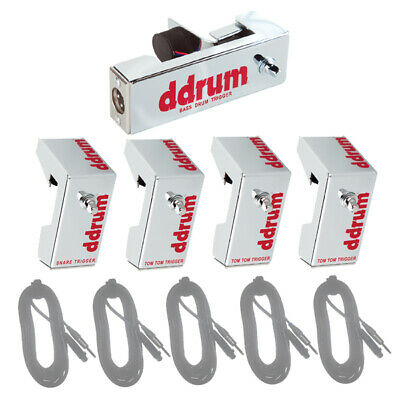 Free Worldwide Shipping! ddrum Chrome Elite 5-Piece Acoustic Triggers Pack