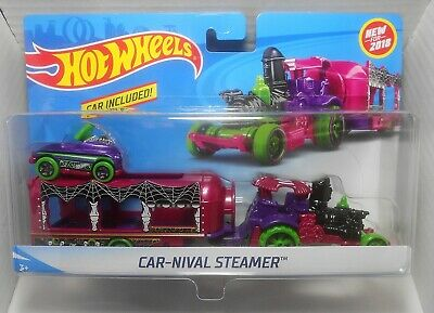 Hot Wheels 2018 Super Rigs Car-Nival-Steamer W/ Pedal Driver New Model Moc