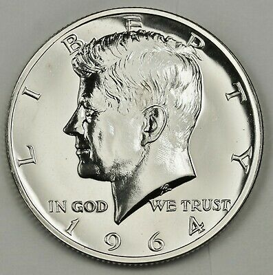 1964 Kennedy Half.  Accented Hair.  Choice Proof.  135556