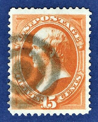 [AA55] USA 1873 Scott#163 used Vertical Ribbed paper cv:$250