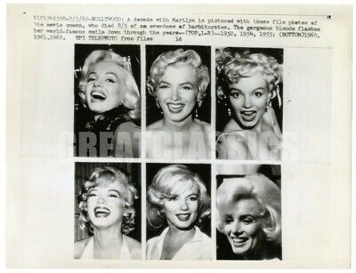 Marilyn Monroe Sex Symbol 1962 Death Announcement Vintage Original Photograph