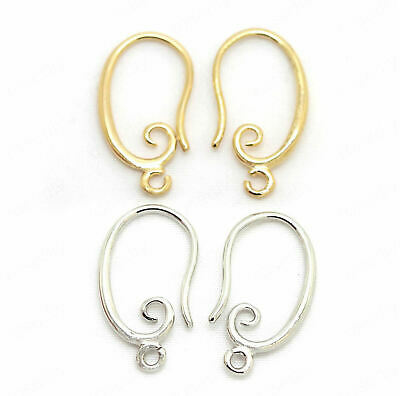 10pcs, 5pairs-Ear wire, 1 loop Earring Hooks,French earring hooks-pick the color