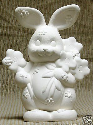 Ceramic Bisque Bumble Bee Bunny Clay Magic Mold 2308 U-Paint Ready To Paint