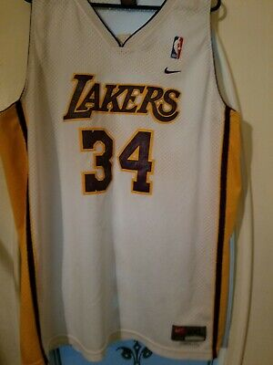 5d27624c805 Shaquille O Neal Los Angeles Lakers  34 Nike Size XXLarge + 2 Jersey NBA