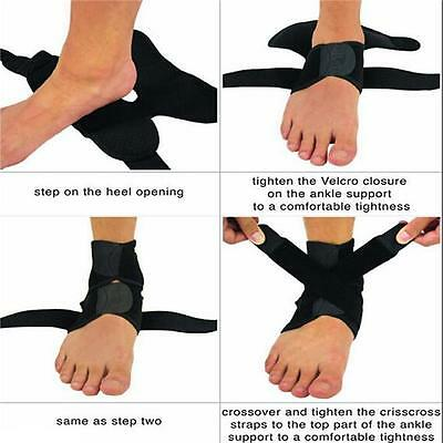 Sports Ankle Support Elastic Sleeve Bandage Wrap Compression Foot Brace DB